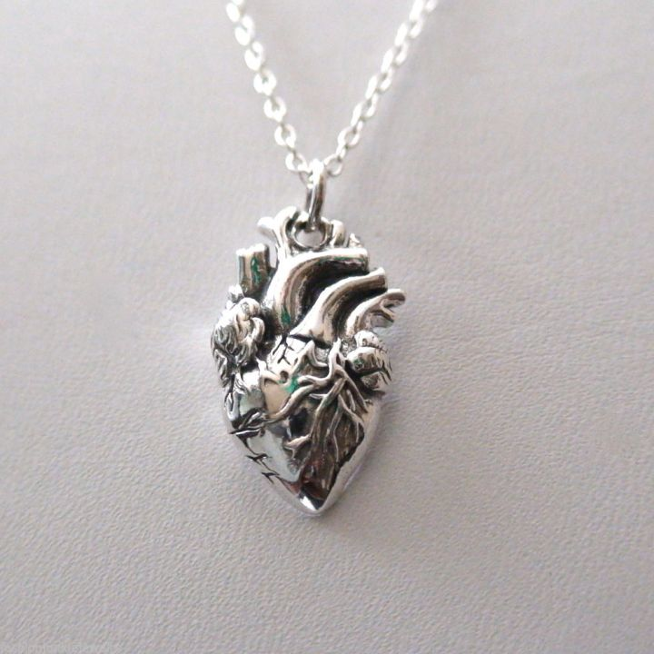 steel heart pendant