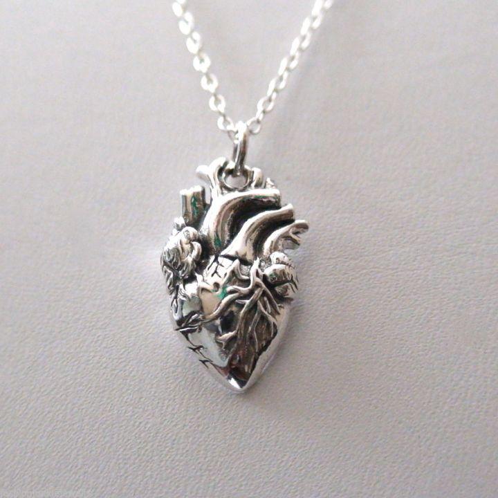steel heart pendant